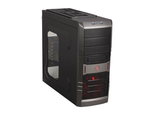 SilverStone SST-RL01B-W-USB 3.0 Black Computer Case with Side Panel Window