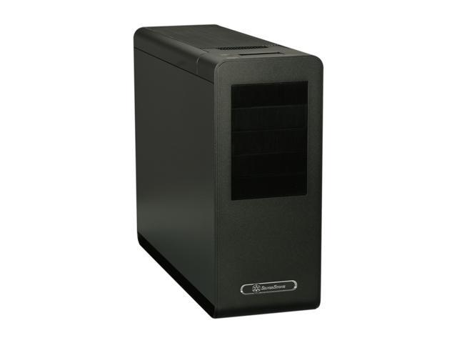 SilverStone Fortress Series SST-FT02B-USB3.0 Black 4.5mm aluminum unibody frame, 0.8mm steel body ATX Mid Tower Computer Case