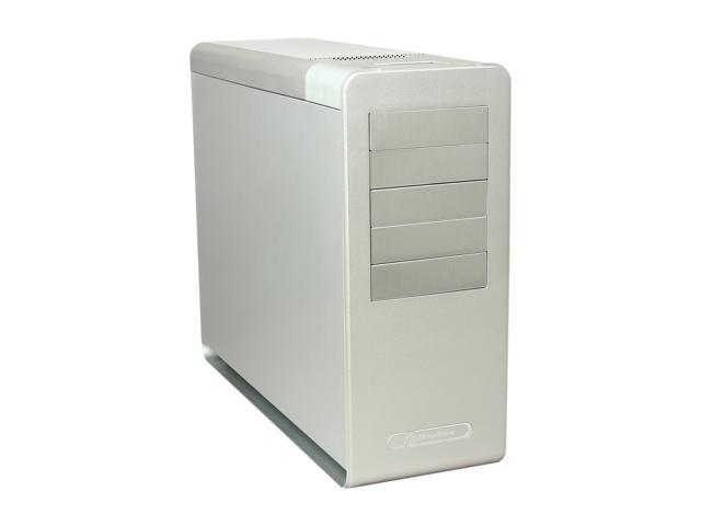 SilverStone Fortress Series SST-FT02S-W-USB3.0 Silver 4.5mm aluminum unibody frame, 0.8mm steel body ATX Mid Tower Computer Case