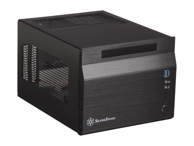 SilverStone Sugo Series SG06B-USB3.0 Black Aluminum/SECC Mini-ITX Desktop Computer Case SFX 300W with 80 PLUS certification Power Supply with 2 x USB3.0 ports (Black)