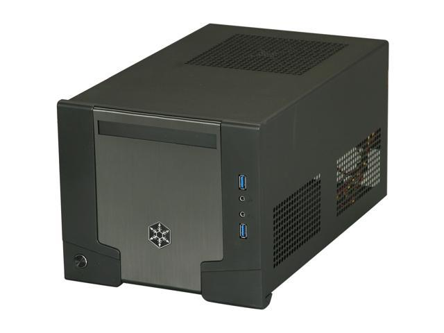 SilverStone Sugo Series SG07B-USB3.0 Black Aluminum / SECC Mini-ITX Desktop Computer Case 600W 80+ Bronze Certified / Single +12V rail Power Supply with 2X USB3.0 ports