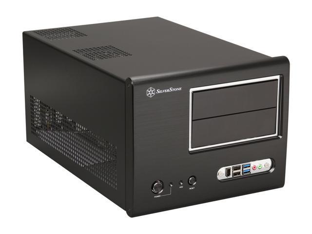 SilverStone Sugo Series SG01B-F-USB3.0 Black Computer Case with 2 x USB3.0 + 2 x USB2.0 ports