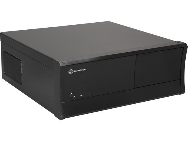 SILVERSTONE Black GD01B-R-USB3.0 ATX Media Center / HTPC Case