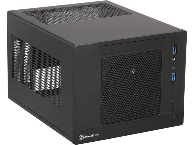 SilverStone Sugo Series SG05BB-LITE Black SECC / Plastic Mini-ITX Desktop Computer Case with 2 x USB3.0 ports (Black)