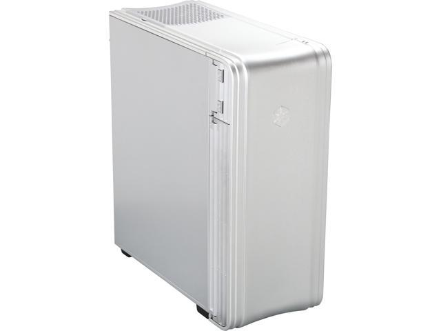 SilverStone FT04S-W Silver Extended ATX Aluminum Full Tower Case with Window Side Panel