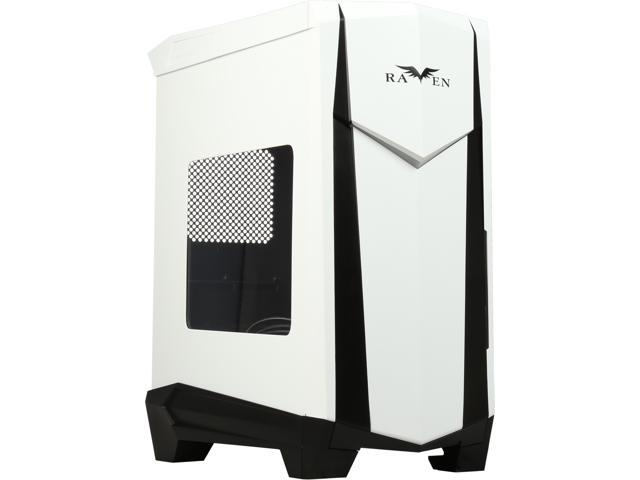SilverStone RV05WB-W Black Steel / Plastic ATX Mid Tower Computer Case