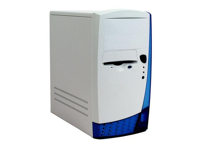 Linkworld 217 MICRO ATX C.07 Beige/Transparent Blue Steel ATX Mini Tower Computer Case