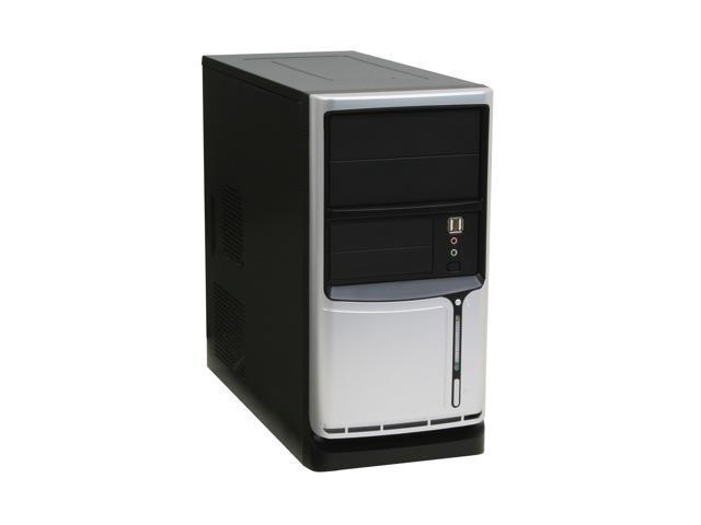Linkworld 43709-228FU Black / Silver Steel MicroATX Mid Tower Computer Case