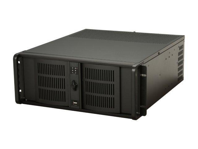 iStarUSA D406-65P2-NP Black 4U Rackmount Server Case-Quiet Version