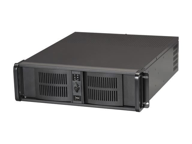 iStarUSA D-3Front/50 Black Steel 3U Rackmount Server Case