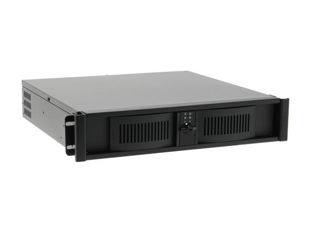 iStarUSA D-200S/350W Black 1.2mm SECC Zinc-Coated Steel 2U Rackmount Server Case