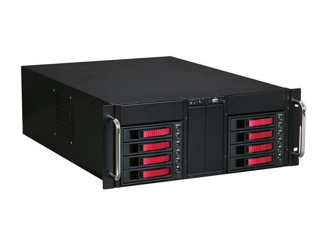 iStarUSA D-410-B8SA-RED Red Zinc-Coated Steel 4U Rackmount Server Case
