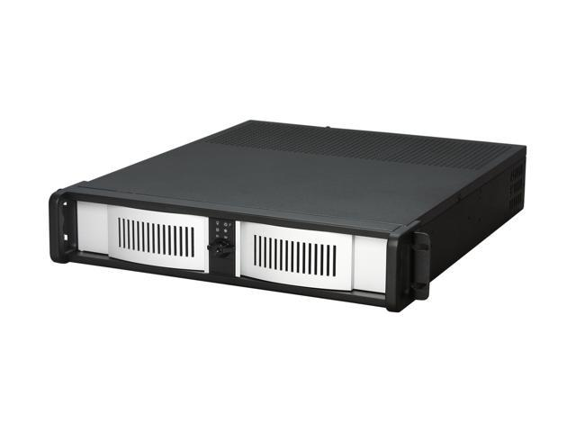 iStarUSA D-200-AB-SILVER Steel 2U Rackmount Compact Stylish Server Chassis