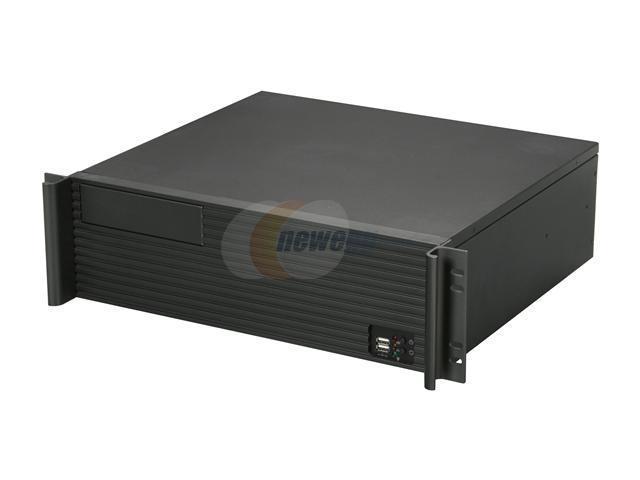 iStarUSA D-313-MATX Black Metal/ Aluminum 3U Rackmount Compact Rackmount Chassis Compatible w/ PS2 Power Supply