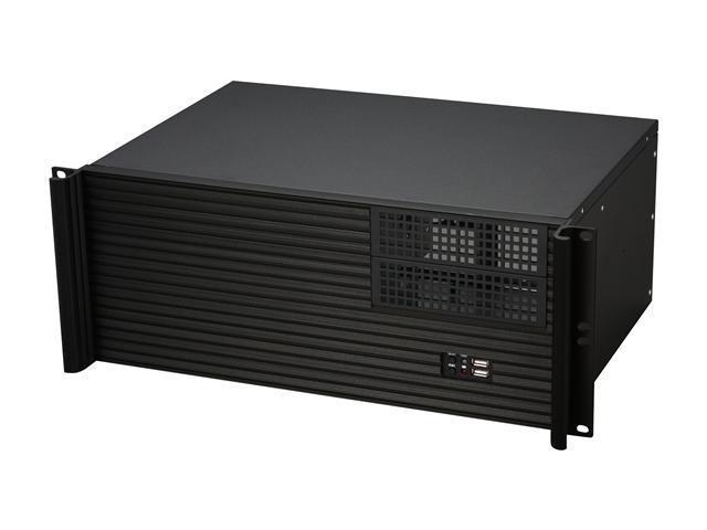 iStarUSA D-412S3-MATX Black Metal/ Aluminum 4U Rackmount microATX Server Chassis