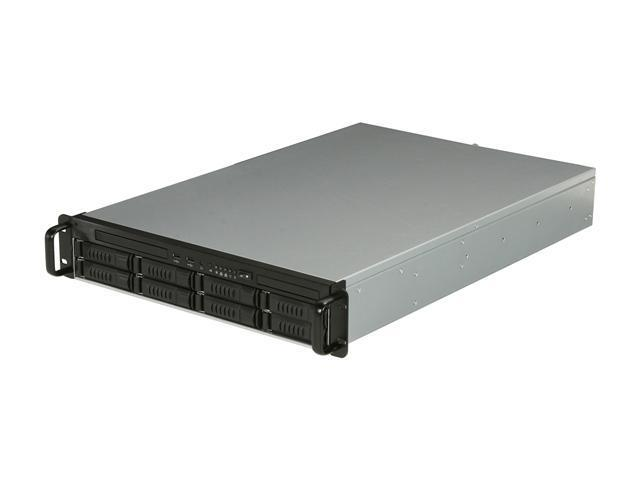 iStarUSA E2M8-46R2UP Black 2U Rackmount Server Chassis