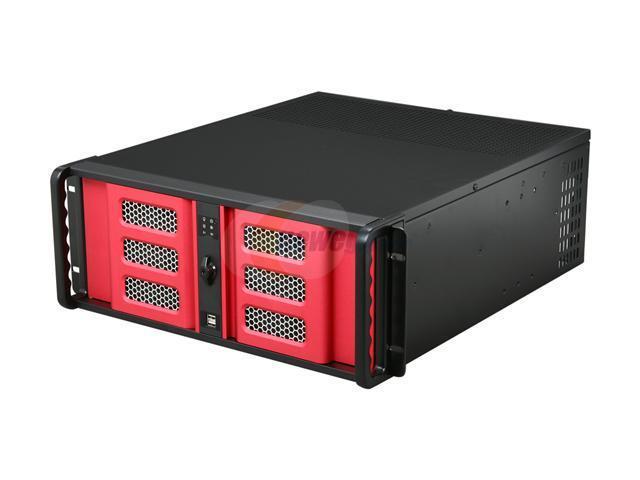 iStarUSA D400-6SE-B6SA-RD 4U Rackmount Compact Stylish Server Chassis
