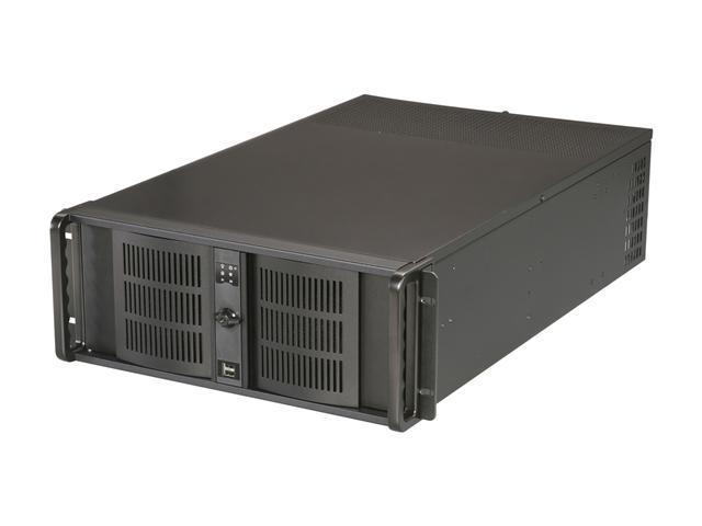 iStarUSA D407L-DE6BL Black 4U Rackmount High Performance Server Case - Blue Tray