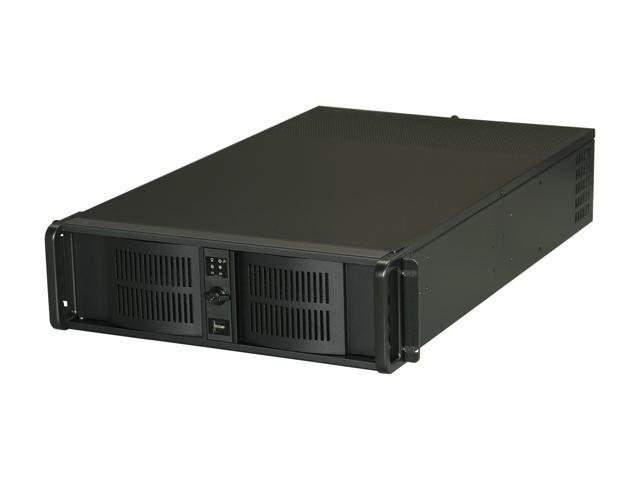 iStarUSA D Storm D300L-40R2UP-RAIL24 Black 3U Rackmount High Performance Server Case
