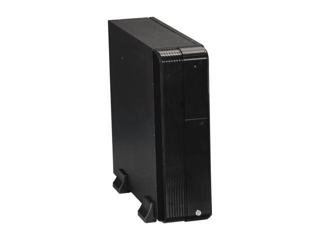 iStarUSA S-0430-DT-DEBL Black Steel / Plastic Tower Compact Stylish Micro-ATX Enclosure - Blue HDD Handle
