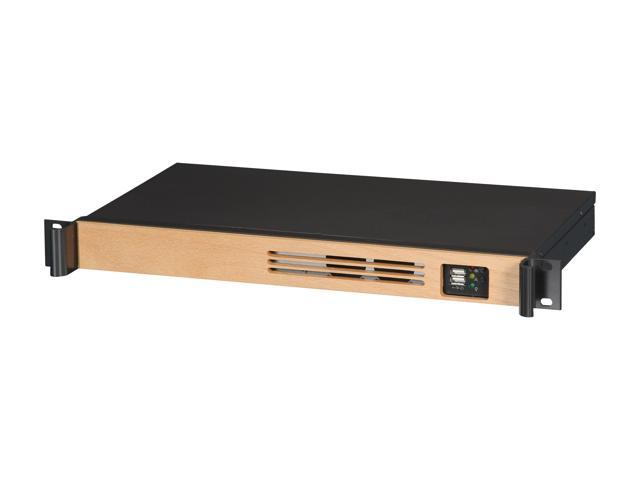 iStarUSA D-118V2-ITX-WB Black Steel, Wood 1U Rackmount Compact Mini-ITX Chassis