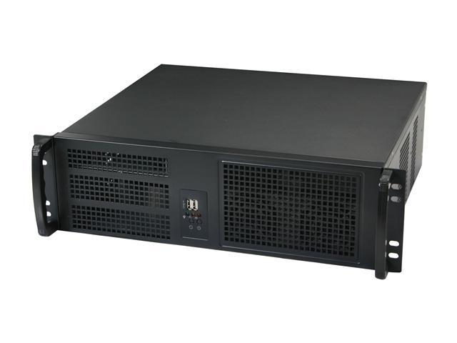 Athena Power RM-3U3026S47 Black Steel 3U Rackmount Server Case