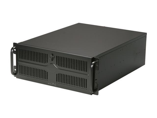 Athena Power RM-4U455BR508 Black 1.2mm Thickness Steel 4U Rackmount Server Case