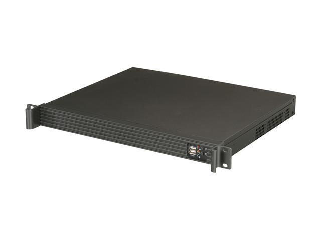 Athena Power RM-1U1004M30 Black 1.2mm Steel 1U Rackmount Compact Server Chassis