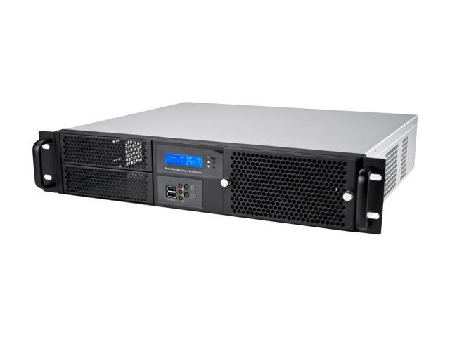 Athena Power RM-2UD220S558 Black 2U Rackmount Server Case