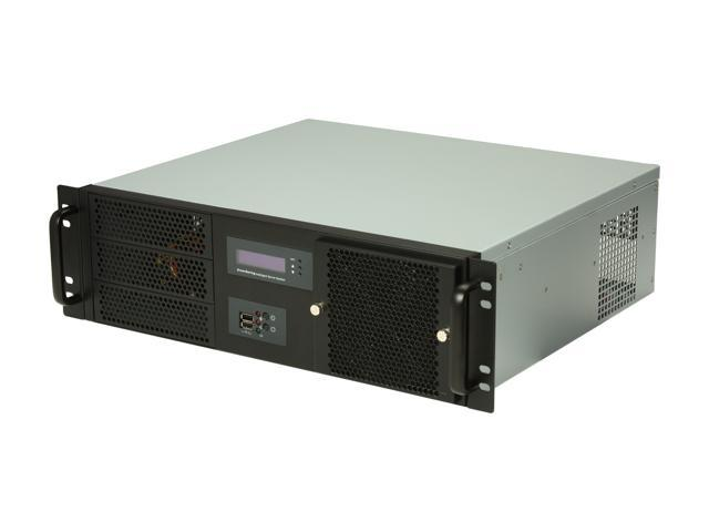 Athena Power RM-3UD370S47P Black 1.2mm Thickness Steel 3U Rackmount Server Case