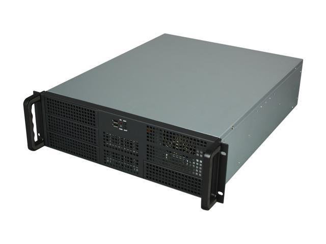 Athena Power RM-3U3F55B60 Black 3U Rackmount Server Case