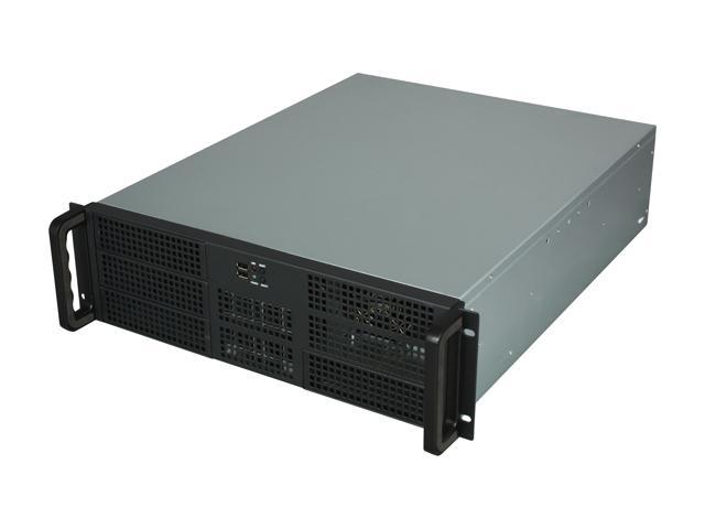 Athena Power RM-3U3F55B70 Black 3U Rackmount Server Case