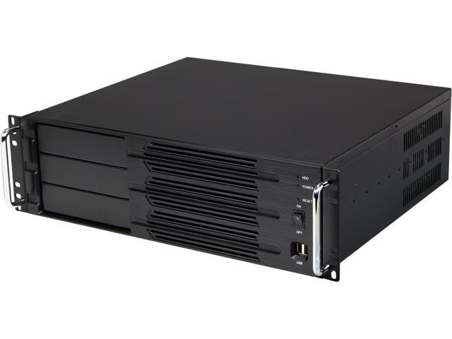 Athena Power RM-3U300P47 Black Aluminum / Steel 3U Rackmount Server Case