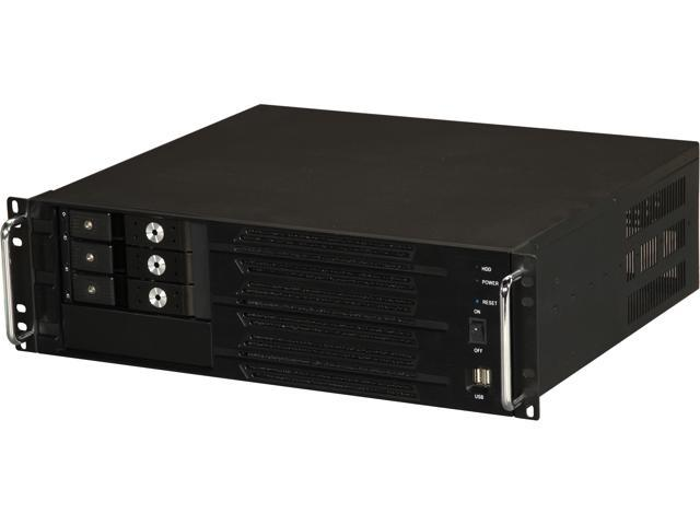 Athena Power RM-3U300P47H33T Black 3U Rackmount Server Case w/ BP-TL2131SAC, AP-MPS3ATX47EP
