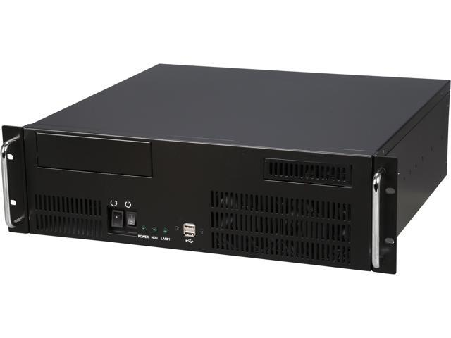 Athena Power RM-3U351GHIR70U2 Black 1.2mm SECC 3U Rackmount Server Case
