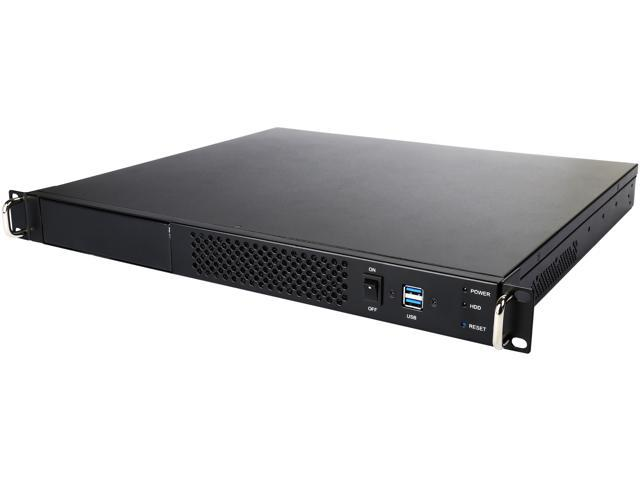 Athena Power RM-1UWIN512 USB 3.0 Multiple Drive Bay Configuration 1U Rackmount Server Classis - up to ATX (9.6