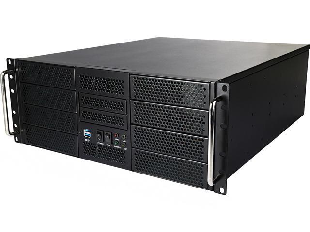 Athena Power RM-4UWIN525 Black 1.2mm SECC 4U Rackmount Server Case