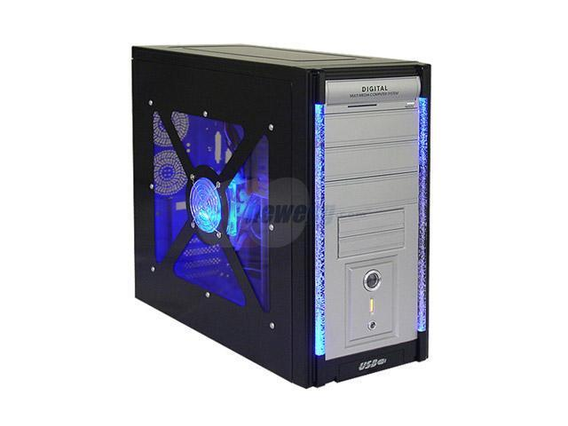 ASYS 8654BW Black Steel ATX Mid Tower Computer Case 450W Power Supply