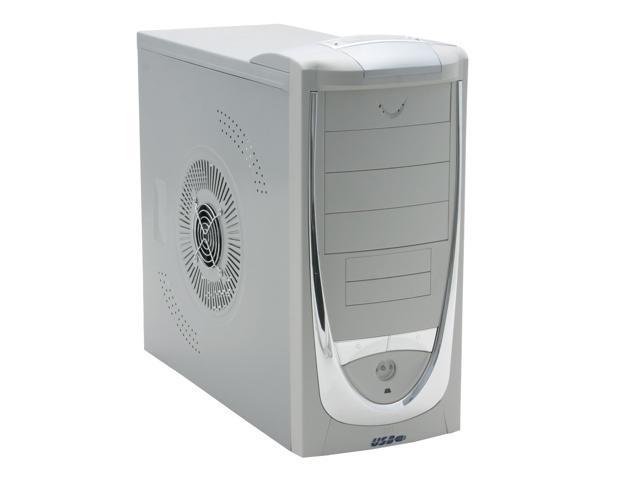 ASYS N7650 Beige/Silver Computer Case