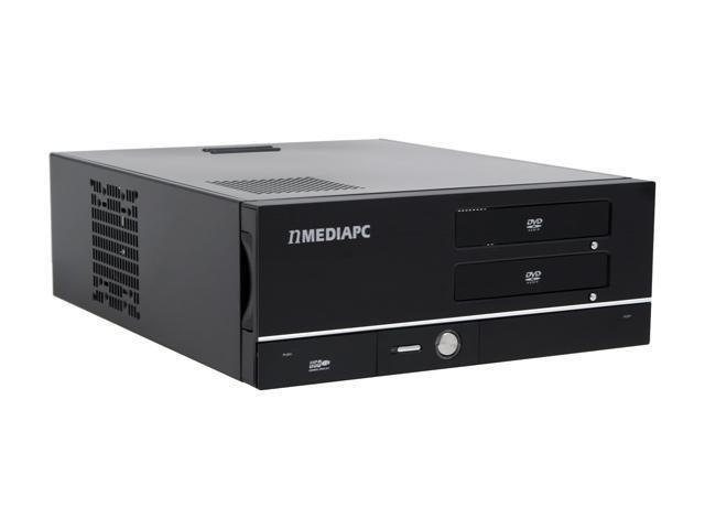 nMEDIAPC Black Aluminum / Steel HTPC 700BA ATX Media Center / HTPC Case