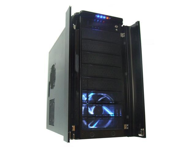 XION Stacker XON-791B Black Steel Chassis with Aluminum Front Door ATX Mid Tower Computer Case