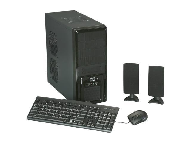 XION_5 In 1 Meshed Black/RED Steel ATX Mid Tower Computer Case with 500 Watt PSU, USB K/B, Optical Mouse, Multimedia Speakers _Retail