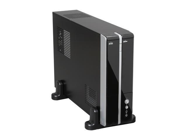 XION XON-710P_BK Black Steel Micro ATX / Mini ITX Slim Desktop Computer Case 300W Power Supply