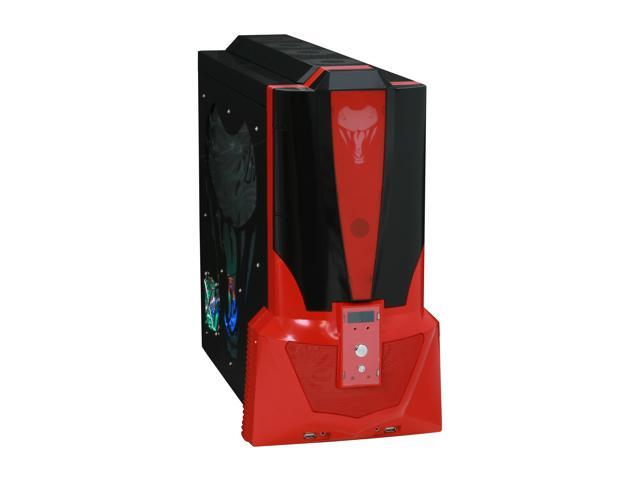 JPAC COBB Black / Red Steel ATX Mid Tower Computer Case