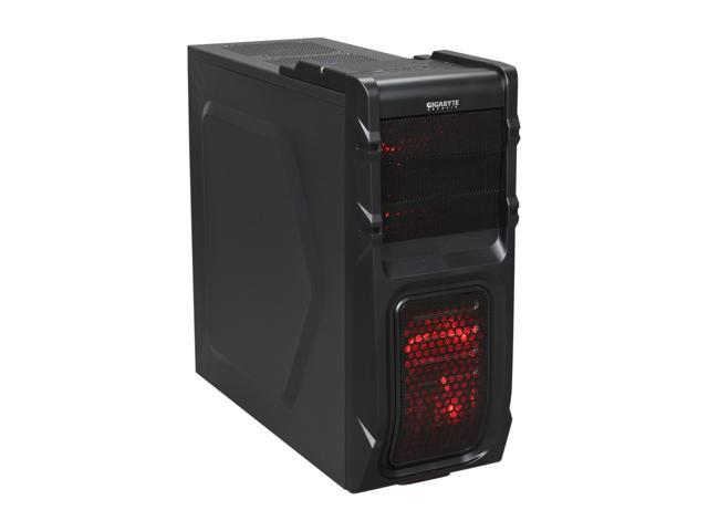 GIGABYTE Luxo M10 GZ-ZLM10BS Black Plastic / 0.5mm Steel ATX Mid Tower Computer Case
