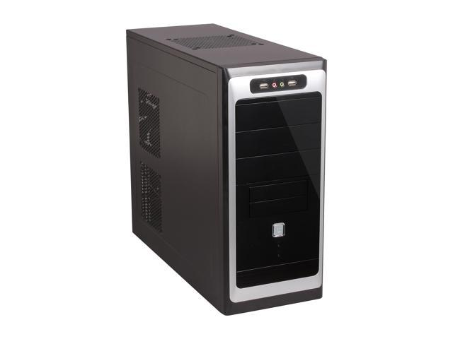 TOPOWER TP-6208BB-450 Black SGCC 0.5mm ATX Mid Tower Computer Case 450W Power Supply