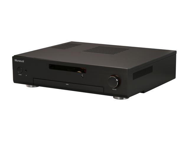 Moneual Black Aluminum MonCaso 312B Micro ATX Media Center / HTPC Case