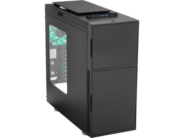 Nanoxia DS1WIB Dark Black Steel / Plastic ATX Mid Tower Computer Case