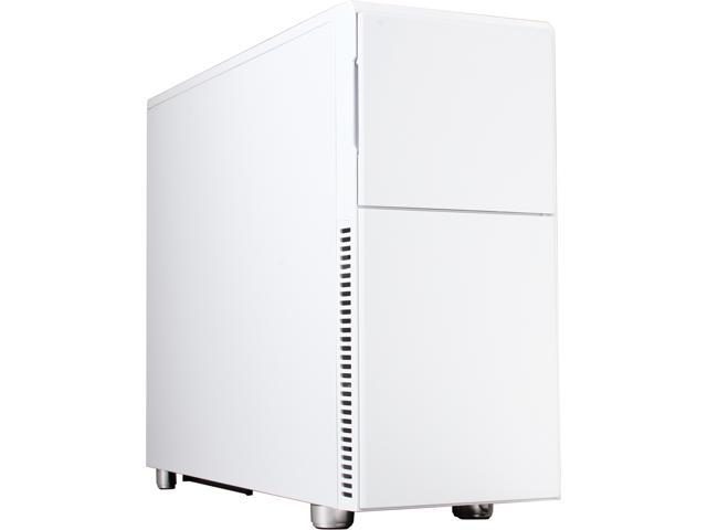 Nanoxia NXDS2W White Steel ATX Mid Tower Deep Silence 2 Gaming Computer Case