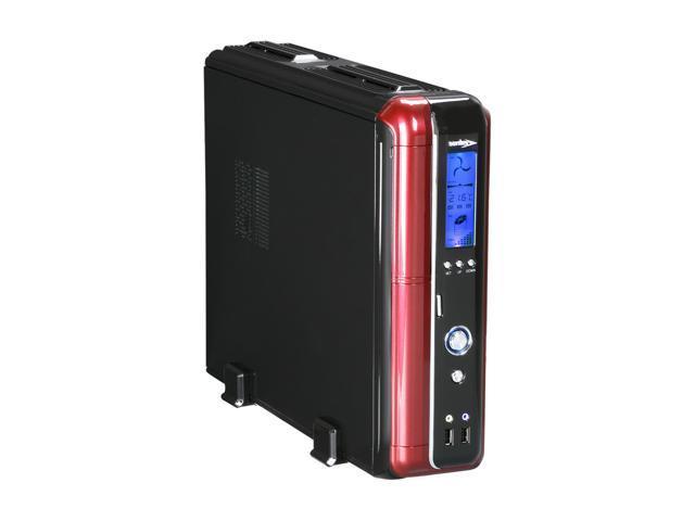 Sentey Slim 2422 Slim Flex Case w/Power SupplyLCD DISPLAY SECC 0.7mm 2x USB/1x Fan/Micro ATX-ITX